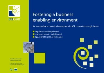 Fostering a business enabling environment - ACP Business Climate
