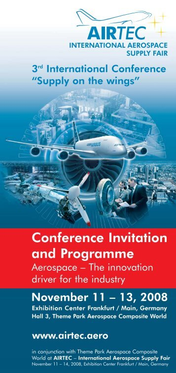 Conference Invitation and Programme - alpha-board