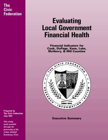 Evaluating Local Government Financial Health - The Civic Federation