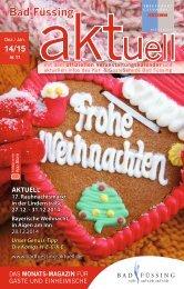 Bad Füssing aktuell Dezember/Januar 2014/15