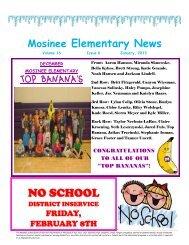 January - Mosinee School District