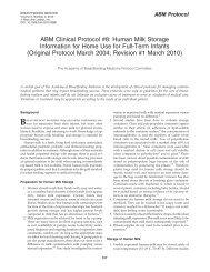 ABM Clinical Protocol #8 - The Academy of Breastfeeding Medicine