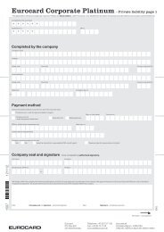 Eurocard Corporate Platinum - Private liability page 1