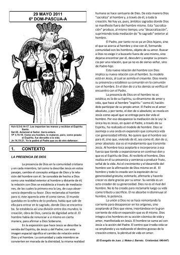 29 mayo 2011 6º dom-pascua-a 1. contexto - Escucha de la Palabra
