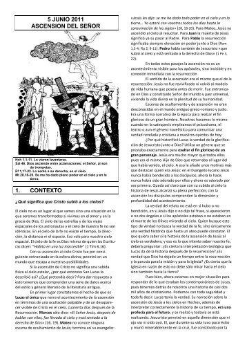 5 junio 2011 ascension del señor 1. contexto - Escucha de la Palabra