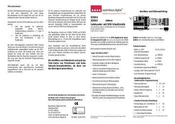Anleitung zum Lokdecoder SLX834/SLX835 - MDVR