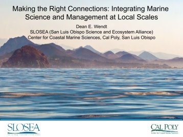 Collaborative Fishing Efforts by SLOSEA Powerpoint 10/20/11