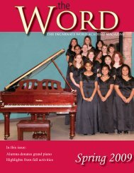Spring 2009 - Incarnate Word Academy