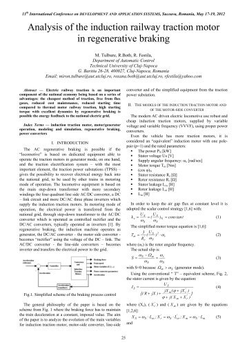 Analysis of the induction railway traction motor in ... - DAS 2012