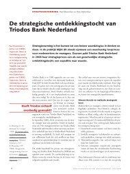 De strategische ontdekkingstocht van Triodos ... - Rijnland Weblog