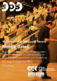 Mobile Daten - Symposium on Privacy and Security