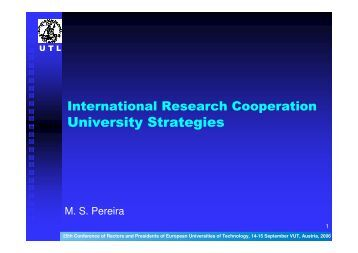 International research cooperation - university strategies