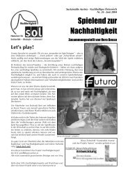 Spielend zur Nachhaltigkeit - SOL - Menschen für Solidarität ...