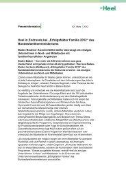 """""""Erfolgsfaktor Familie 2012"""" des Bundesfamilienministeriums - Heel"""