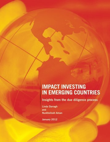 Impact Investing In Emerging Countries: Insights from the Due ...