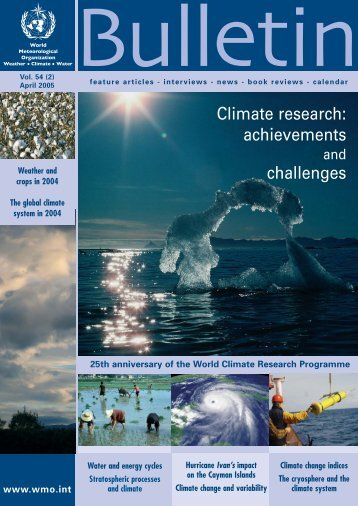 WMO Bulletin 54/2 April 2005 - WCRP-Home