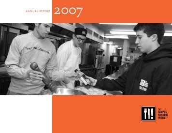 2007 Annual Report - The Campus Kitchens Project