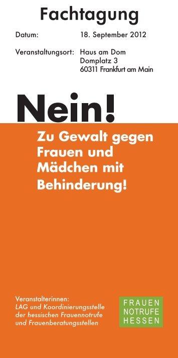 Tagungsflyer - Frauennotruf Frankfurt