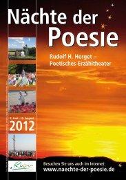 Rudolf H. Herget – Poetisches Erzähltheater ... - Nächte der Poesie