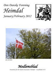 November 2011 Newsletter - The Danish Club in Brisbane, Australia