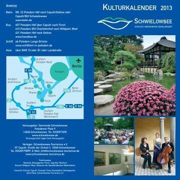 KULTURKALENDER 2013 - Caputh