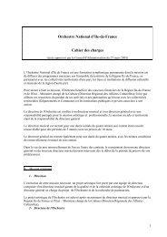 Note à l'attention de Alain SURRANS - Orchestre national d'Ile-de ...