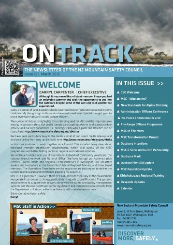 MSC's OnTrack Newsletter - March 2012 - New Zealand Mountain ...