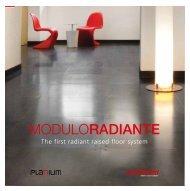 The first radiant raised floor system - Planium