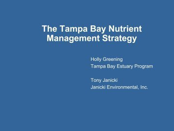 The Tampa Bay Nutrient Management Strategy - Florida Department ...