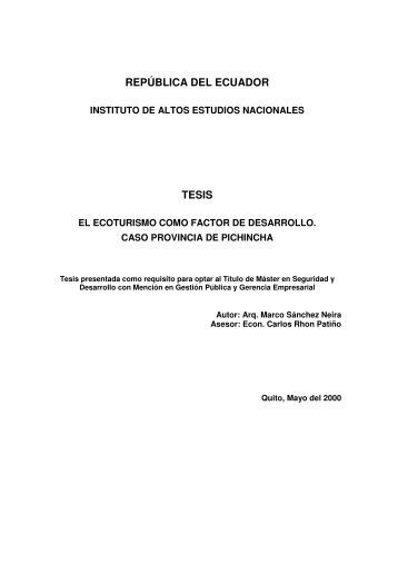 SANCHEZ MARCO 2000.pdf - Repositorio Digital IAEN - Instituto de ...