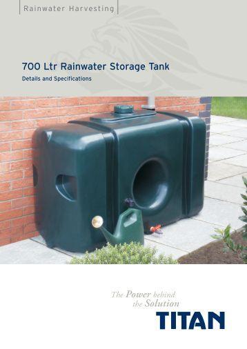 Titan RW700 700 Litre Rainwater Storage Tank Details - Ecostore