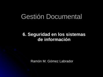Gestión Documental - Universidad de Sevilla