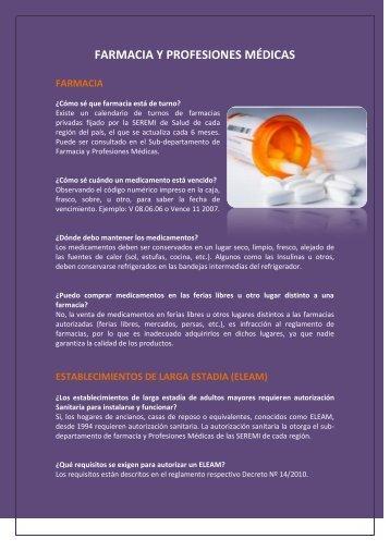 farmacia y profesiones médicas - SEREMI de Salud Región del ...