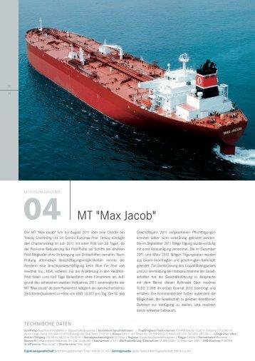 "MT ""Max Jacob"" - Hansa Hamburg Shipping International GmbH ..."