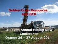 Copper Hill - Golden Cross Resources