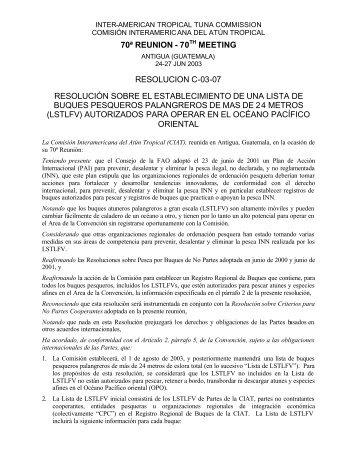 C-03-07 - Comisión Interamericana del Atún Tropical