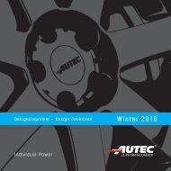 Winter 2010 - AUTEC GmbH & Co. KG
