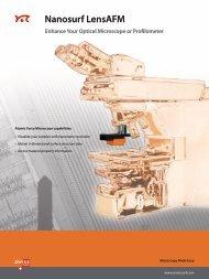 Nanosurf LensAFM Enhance Your Optical Microscope ... - Nanowerk