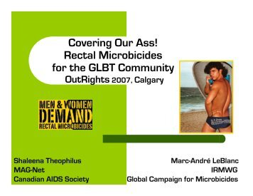 Covering Our Ass! Rectal Microbicides for the GLBT Community