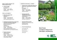 Mehr Freude am eigenen Garten durch Information und Beratung