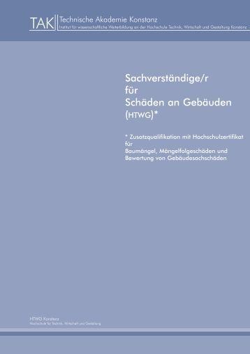 HTWG - Technische Akademie Konstanz
