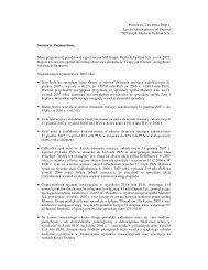 Warszawa, 2 kwietnia 2008 r. List do Akcjonariuszy od Prezesa NFI ...
