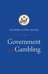 Government and Gambling - Institute for American Values