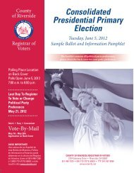 Sample Ballot - Riverside County Registrar of Voters