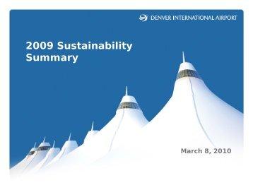 2009 Sustainability Summary