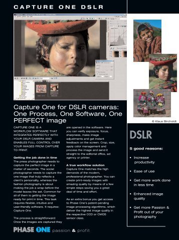 Capture One datasheet (Page 1) - Vistek