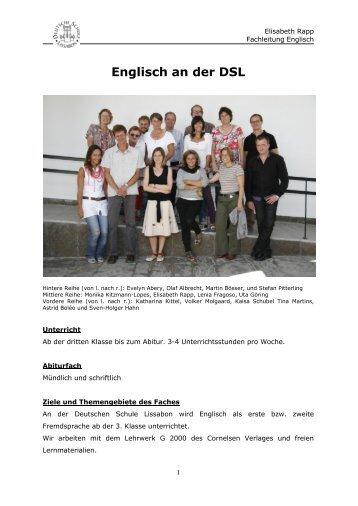 Englisch an der DSL - Deutsche Schule Lissabon