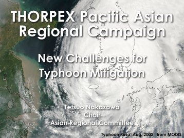 New Challenges for Typhoon Mitigation