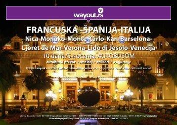 FRANCUSKA -ÅPANIJA-ITALIJA - Wayout