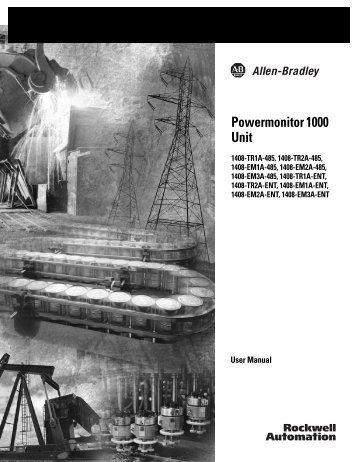 1408-UM001A-EN-P, Powermonitor 1000 Unit User Manual